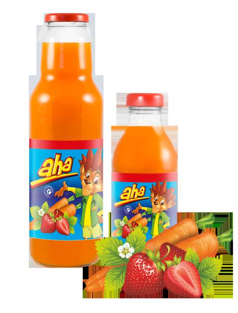 AHA morkų, braškių nektaras