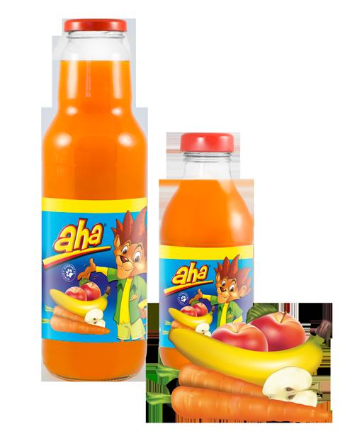 AHA morkų, bananų, obuolių nektaras